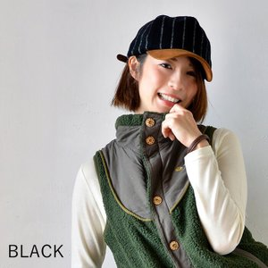 nakota ナコタ メルトンショートトリップキャップ 帽子 ストライプ ウール 秋 冬 旅 メンズ レディース ユニセックス|nakota|02