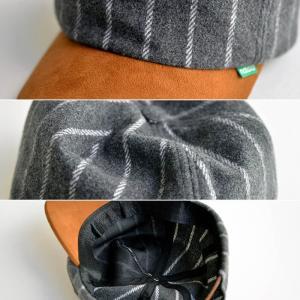 nakota ナコタ メルトンショートトリップキャップ 帽子 ストライプ ウール 秋 冬 旅 メンズ レディース ユニセックス|nakota|05