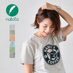 Tシャツ 半袖 メンズ レディース nakota コットン プリント Tシャツ -nakota coffee-|nakota