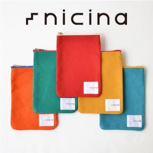 nicina (ニシナ)ポーチ Sサイズ 小物入れ キャンバス 帆布 日本製 オールハンドメイド 真鍮 バックインバック |nakota