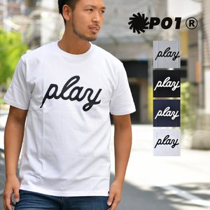 PLAY DESIGN (プレイデザイン) P01 PLAY LOGO TEE プレイ ロゴ Tシャツ メンズ レディース|nakota