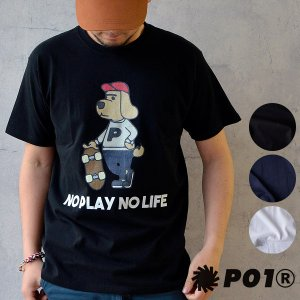 PLAY DESIGN (プレイデザイン) P01 DC TEE ドッグTシャツ 犬 半袖 ロゴ スケボー コットン メンズ レディース|nakota