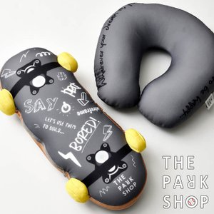 THE PARK SHOP ザ パークショップ SKATE CHANGE PILLOW クッション トラベルピロー 枕 ビーズクッション スケボー アウトドア 車|nakota