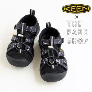 KEEN×THE PARK SHOP 20ss seacamp キーン ザパークショップ サンダル シューズ 靴 キッズ レディース 親子 子供 ペア ブラック コラボ|nakota