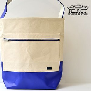 RE.ACT(リアクト)Bicolor One Shoulder Bag バイカラー ワンショルダーバッグ 日本製( 岡山県 ) 帆布 キャンバス コットン|nakota