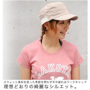 clef (クレ) リブ スウェット ワークキャップ 帽子 キャップ 2サイズ展開!小顔効果アリ季節を問わず年中被れるワークキャップ|nakota|05