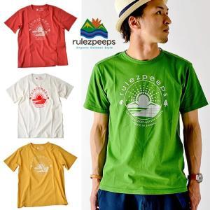 rulezpeeps (ルールズピープス)LogoTeeロゴ Tシャツ半袖オーガニックコットンの優しさ溢れる1枚。 オーガニックコットンTシャツ半袖 nakota