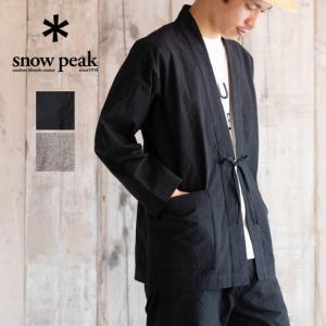 snow peak スノーピーク NORAGI Jacket 野良着ジャケット アウター メンズ レディース 日本製 竹 黒 グレー 竹 抗菌 無地 春 夏|nakota