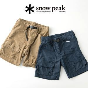 snow peak スノーピーク サマー コーデュロイ ショーツ パンツ ボトムス ショートパンツ アウトドア|nakota