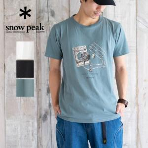snow peak スノーピーク Flat Burner Tee Tシャツ 半袖 カットソー 日本製 メンズ レディース 春 夏 涼しい かっこいい おしゃれ アウトドア|nakota