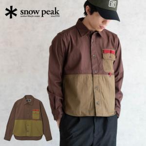 snow peak スノーピーク Field Fishing Shirt フィールドフィッシングシャツ シャツ ウェア アパレル トラウトフィッシング パラフィン加工 撥水 メンズ S M L|nakota