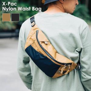 snow peak スノーピーク X-Pac Nylon Waist Bag バッグ 鞄 ショルダーバッグ ボディバッグ サコッシュバッグ メンズ レディース 黒 ベージュ|nakota