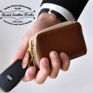 RE.ACT(リアクト)Oil Combi Leather Key Case レザーキーケース 本革 小物 ギフト|nakota