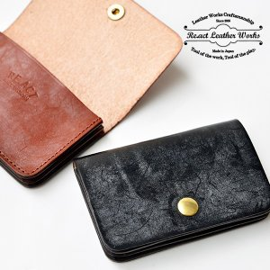 RE.ACT リアクト Bridle Leather Card Case カードケース 名刺入れ 定期入れ レザー ブライドルレザー プレゼント ギフト ビジネス パス PAS|nakota