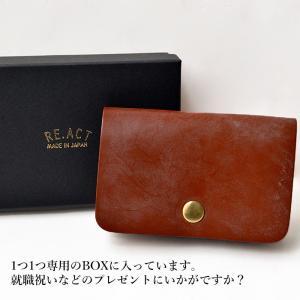 RE.ACT リアクト Bridle Leather Card Case カードケース 名刺入れ 定期入れ レザー ブライドルレザー プレゼント ギフト ビジネス パス PAS|nakota|06