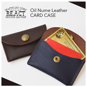 RE.ACT(リアクト)Oil Nume Leather CARD CASE オイルヌメレザー カードケース 定期入れ 日本製プレゼント名刺入れパスケース|nakota