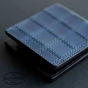 RE.ACT リアクト Stitch Indigo Basic Wallet 二つ折り財布 メンズ レディース プレゼント ギフト|nakota