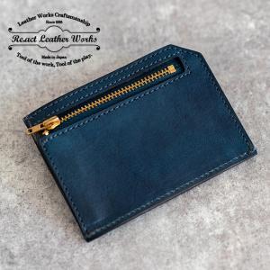 RE.ACT リアクト Solid Indigo Slim Wallet コンパクトウォレット スリムウォレット 財布 ミニ財布 カードケース コインケース キャッシュレス|nakota