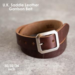 RE.ACT リアクト U.K. Saddle Leather Garrison Belt ベルト 本革 メンズ レディース プレゼント ギフト 蝋鞣し  日本製|nakota
