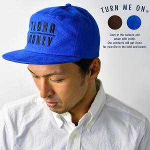 turn me on ターンミーオン ALOHA/MONEYフランネルキャップ 帽子 メンズ レディース ユニセックス 刺繍 アロハ マネー|nakota