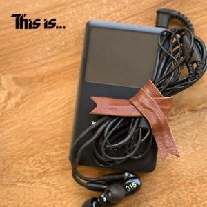 This is... (ディスイズ) Leather Cable Band レザー ケーブル バンド  レザーで飾る。自由に巻けるリボンバンド。 本革 革小物 nakota