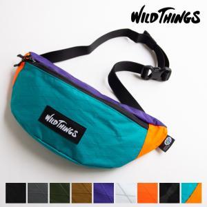 WILD THINGS ワイルドシングス X-PAC WAIST BAG ウエストバッグ ウエストポーチ ボディバッグ メンズ レディース ユニセックス 防水 フェス 野外|nakota