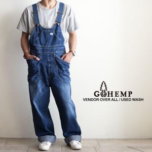 GOHEMP ゴーヘンプ VENDER OVERALL USEDWASH ベンダーオーバーオール ユーズドウォッシュ デニム メンズ レディース nakota