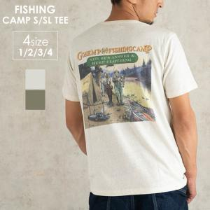 GOHEMP ゴーヘンプ FISHING CAMP S/SL TEE 半袖Tシャツ メンズ レディース アウトドア キャンプ フェス S M L XL|nakota