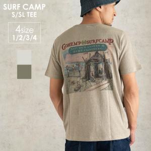 GOHEMP ゴーヘンプ SURF CAMP S/SL TEE 半袖Tシャツ メンズ レディース アウトドア キャンプ フェス S M L XL|nakota