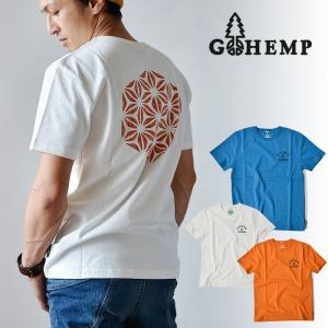 Tシャツ 半袖 メンズ GOHEMP ゴーヘンプ GREENS プリント S/S TEE|nakota
