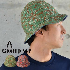 GOHEMP ゴーヘンプ アフリカンバティック サファリハット リバーシブル 帽子 メンズ レディース|nakota