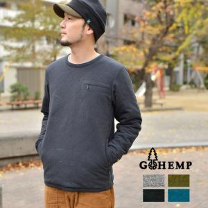 GOHEMP ゴーヘンプ QUILT PULLOVER キルトプルオーバー インナーダウン メンズ レディース|nakota