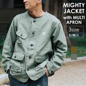 GOHEMP ゴーヘンプ MIGHTY JACKET with MULTI APRON エコ 難燃 エプロン キャンプ オーガニックコットン|nakota