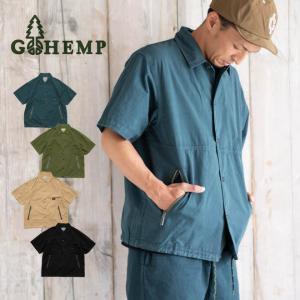 GOHEMP ゴーヘンプ HEMP JAM SHIRTS ヘンプジャムシャツ 半袖 キャンプ 釣り アウトドア メンズ 無地 春 夏|nakota