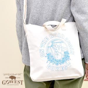 GOWEST ゴーウェスト USA 2WAY BAG トートバッグ ショルダーバッグ キャンバス地 メンズ レディース|nakota