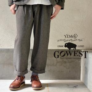GOWEST ゴーウェスト 2TAC CHINO PANTS/ C/W DRILL NEL ワイド チノパンツ|nakota