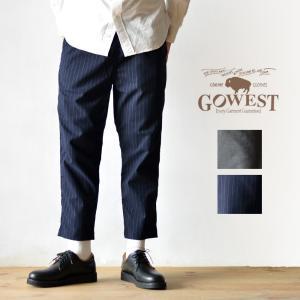 GOWEST (ゴーウエスト) E.G PANTS/ 40/2 TR STRETCH イージーパンツ ストレッチ パンツ ボトムス メンズ レディース|nakota