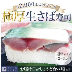 [冷蔵]分厚い!これが刺身同然・ 福井の生さば寿司【通常サイズ】これこそ鯖寿司!寒流・日本海産のサバ...