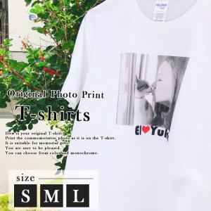 名入れ プレゼント オリジナルtシャツ 誕生日プレゼント オーダーメイド 撮った写真をそのままプリント 5.6オンス半袖Tシャツ(S/M/L)(洋) 送料無料|name-yudachigama