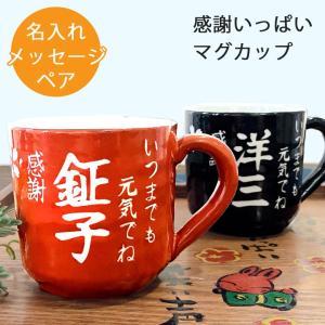 結婚祝い 送料無料 名入れ プレゼント 感謝一杯マグカップ ペア 最速 マグ カップ コーヒー 陶器 祖父 祖母 還暦祝い 男性 女性 米寿 お祝い おしゃれ 新生活|name-yudachigama