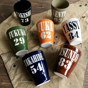 結婚祝い 名入れ カップ 名入れギフト ビールグラス ビアグラス カップ コップ 名前+数字が入るARMYデザイン BEARカップ 送料無料 新生活|name-yudachigama