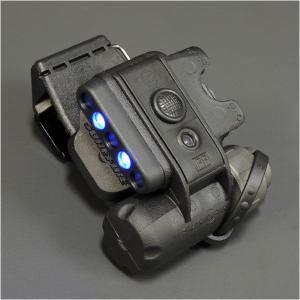 【LEDライト】SUREFIRE(シュアファイア) ヘルメットライト(WH/BL・ブラック) MOLLEクリップなし【送料無料】|nammara-store