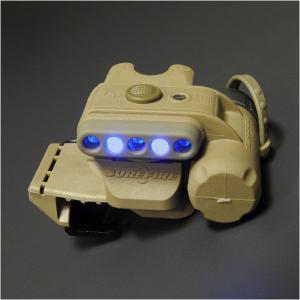 【LEDライト】SUREFIRE(シュアファイア) ヘルメットライト(WH/BL・タン) MOLLEクリップ付【送料無料】|nammara-store