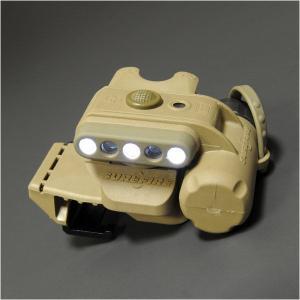 【LEDライト】SUREFIRE(シュアファイア) ヘルメットライト(WH/IR・タン) MOLLEクリップ付【送料無料】|nammara-store