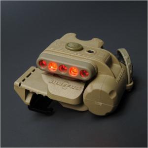 【LEDライト】SUREFIRE(シュアファイア) ヘルメットライト(WH/RD・タン) MOLLEクリップ付【送料無料】|nammara-store