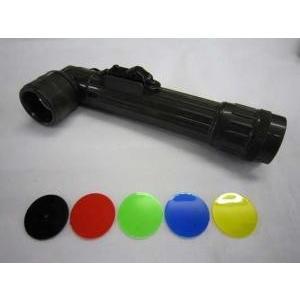【L型ライト】L型懐中電灯 (白色LED仕様) 【単3電池タイプ・オリーブ】|nammara-store