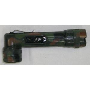 【L型ライト】L型懐中電灯 (白色LED仕様) 【単2電池タイプ・迷彩】|nammara-store