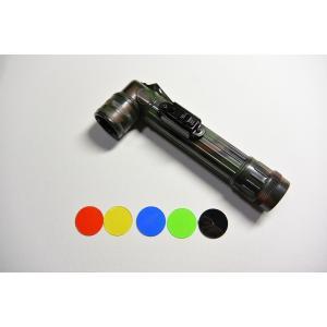 【L型ライト】L型懐中電灯 (白色LED仕様) 【単3電池タイプ・迷彩】|nammara-store