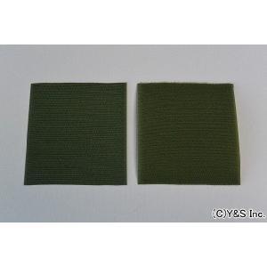 【ワッペン用】クラレ ベルクロ(マジックテープ) 【10cm×10cm/OD(オリーブドラブ)】|nammara-store