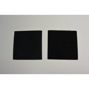 【ワッペン用】YKK製Quicklon(クイックロン) ベルクロ(マジックテープ) 【10cm×20cm/ブラック】|nammara-store